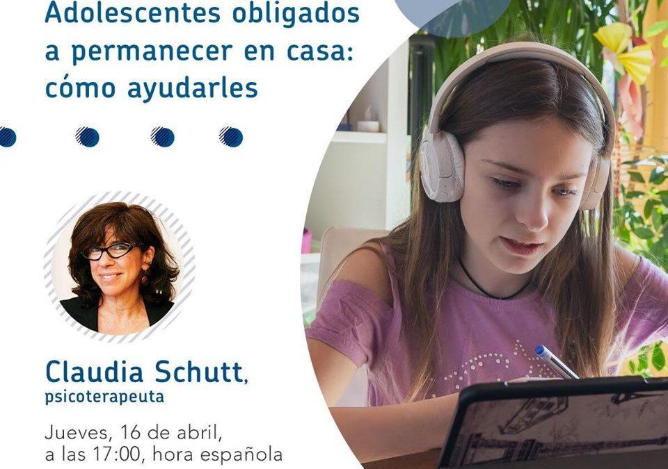 Nuevo encuentro digital con Claudia Schutt